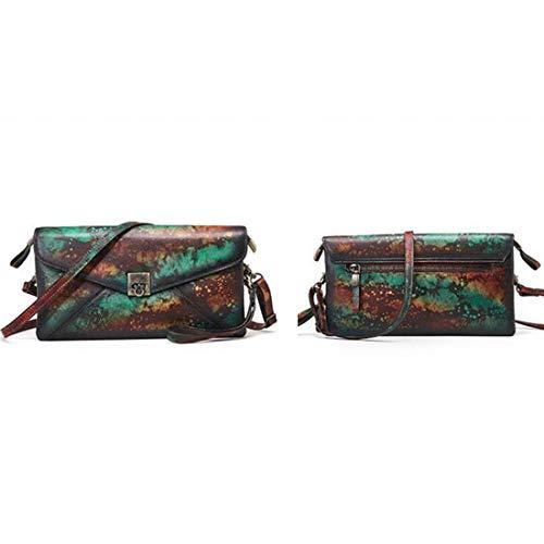 Monederos Bandolera Vintage Bolso Satchels Hombro color Vintage De Para Mujeres Baachang Genuino Cuero a68Z7qwq