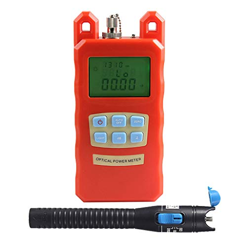Prettyia Pack Fiber Optic Cable Tester Optical Power Meter with Sc & Fc Connector Fiber Tester +1mW Visual Fault Locator for CATV Test,CCTV Test by Prettyia (Image #4)