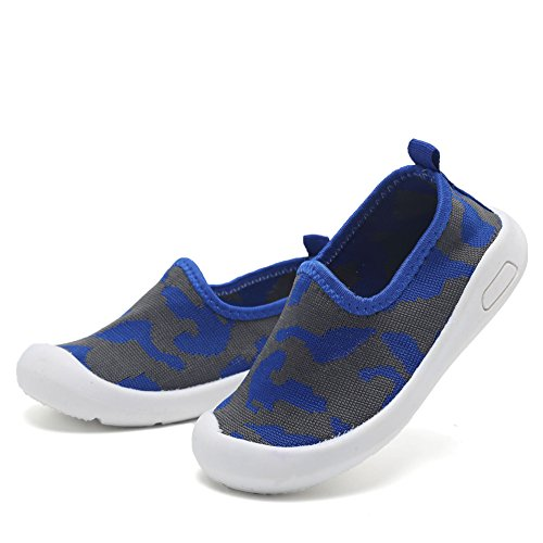 CIOR Kids Slip-on Casual Mesh Sneakers Aqua Water Breathable Shoes For Running Pool Beach (Toddler / Little Kid) SC1599 Blue 19 6