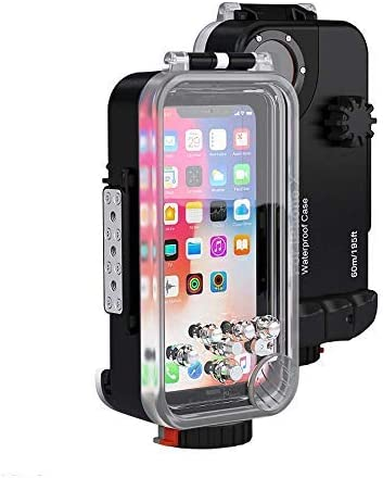 Andoer Sea Frogs Diving Case Waterproof Phone Case Dry Bag Pouch for iPhone X Surfing Swimming Diving Housing Case 60m/195ft Underwater 360 Degrees 4152Plwz15L