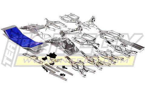 Integy RC Model Hop-ups T3035SILVER Suspension Kit Monster Evolution-5 for T-Maxx (4907, 4908)