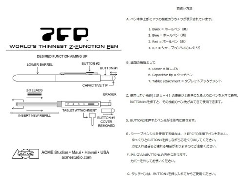 ACME Studios Ruler Seven Function Pen by Adrian Olabuenaga (P7FP04) by ACME Studios Inc (Image #4)