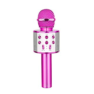 LET'S GO! Wireless Portable Handheld Bluetooth Karaoke Microphone, Kids Toys for 5-12 Years Old Boys Girls - Best Gifts
