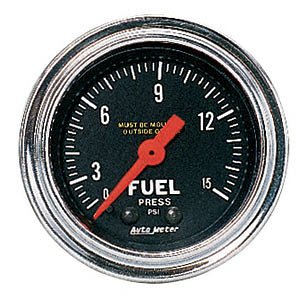 Auto Meter 2411 Traditional Chrome Mechanical Fuel Pressure (Fuel Pressure Meter)