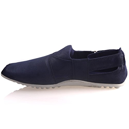 de ' con estilo Unze Azul hombre verano de sandalias Para cuero Cowen IxawBRa