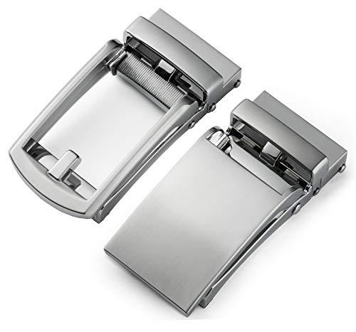 CHAOREN Ratchet Click Belt Buckle Only for Belt Strap 1 1/8', Automatic Slide Buckle 35mm