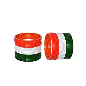 WoWants Indian Tiranga Bangles Fashion for Independence Day – Beautiful and Patriotic(Tri-Color) (Pack of-48)