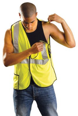 Occulux Breakaway Vest - OccuNomix 2X Hi-Viz Yellow OccuLux® Premium Light Weight Polyester Mesh Class 2 5-Point Break-Away Vest With Front Hook And Loop Closure And 3M Scotchlite 2
