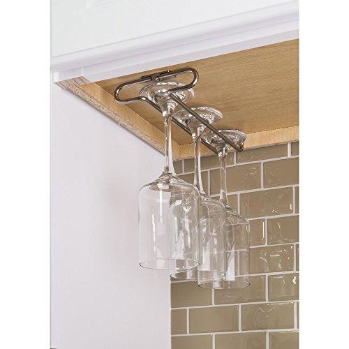 under cabinet wine rack nickel - 4