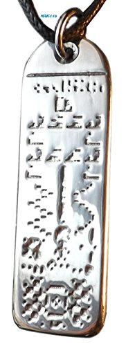 Crop Circle Message (Transmission) - Pewter Pendant - Chilbolton Observatory, England, based on our Transmission into space, The Reply. ()