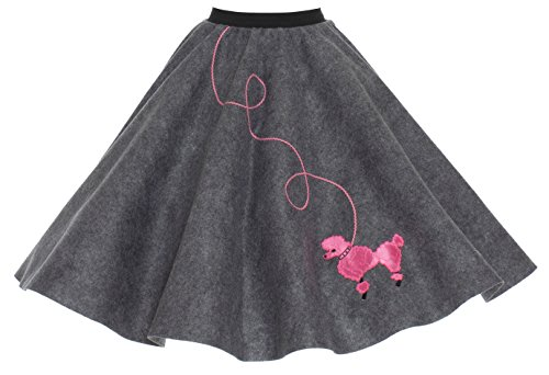 Hip Hop 50s Shop Adult Poodle Skirt Grey XL/2X