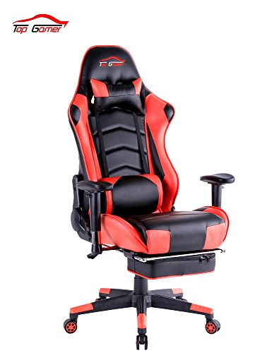 Top Gamer PC Gaming Chair Video Game Chairs for Computer Game (Black/Red)