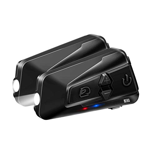 LEXIN G16 Motorrad Intercom, Motorrad Bluetooth 5.0 Headset bis zu 16 Fahrer Gleichzeitige Kommunikation für 2000 Metern…