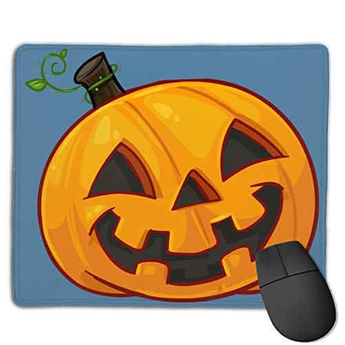 Mouse Pad Pumpkin Face Halloween Comfortable for Laptop Computer -