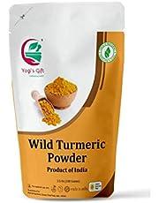 Yogi's Gift | 100% Pure Organic Wild Turmeric powder for face | 100 grams | Kasthuri manjal | Curcuma Aromatica | Amba haldi | Promotes glowing skin