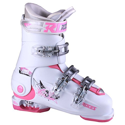 Roces 2016 Idea Adjustable White/Deep Pink Kids Ski Boots 22.5-25.5