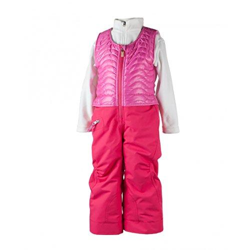 Obermeyer Kids Baby Girl's Ober-All Bib (Toddler/Little Kids/Big Kids) Smitten Pink 6 by Obermeyer Kids
