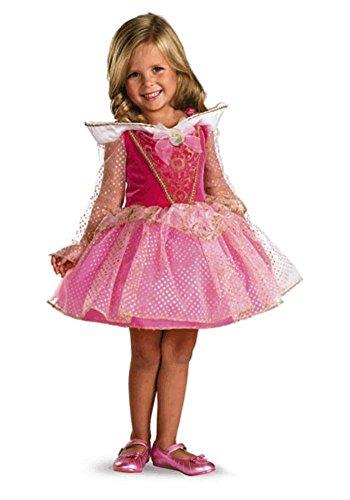 Morris Costumes Aurora Ballerina Toddler, Pink/gold, 3t-4t