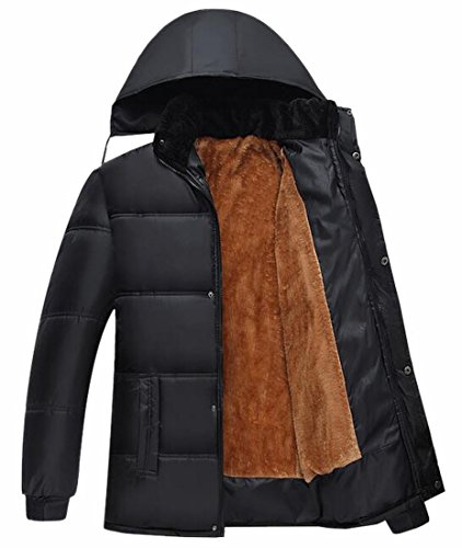 Padded Fleece Lined Jacket Hooded Mens Parka Removable 1 Coat TTYLLMAO qO7xXwE5