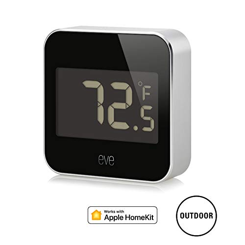 Eve Degree - Connected Weather Station for tracking temperature, humidity & air pressure; IPX3 water...