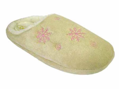 Coolers Womens Snowflake Design Microsuede Mule Slippers - Beige - 7-8 UK eNi4JI