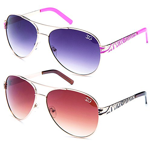 Newbee Fashion - Womens Aviator Design UV Protection Pilot Oversized Flashy Trendy Fashion Sunglasses Spring - Flashy Sunglasses