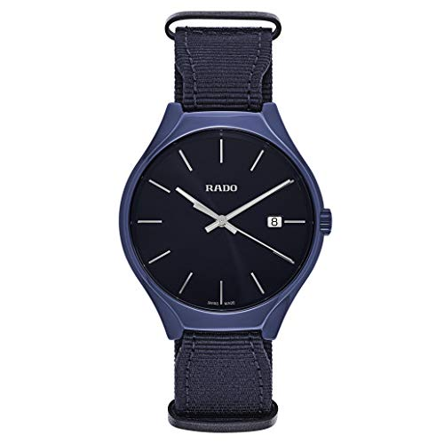 Reloj Rado True de Hombre en cerámica Azul y Correa de Nylon R27235206.: Amazon.es: Relojes