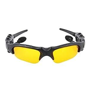 AUVSTAR Gafas de deporte al aire libre Bluetooth, Deporte Auriculares estéreo inalámbricos Bluetooth, Auriculares con Bluetooth Gafas de sol, Gafas de sol con manos libres, Cubiertas oculares con música de conversación, Gafas de sol con lentes para teléfonos inteligentes