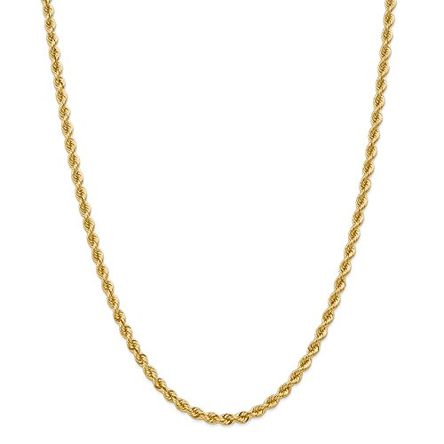 Jewelry Necklaces Chains 14k 4mm Regular Rope Chain