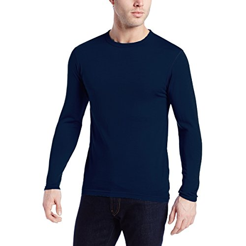 Minus33 Merino Wool 718 Ticonderoga Men's Lightweight Crew Navy Large