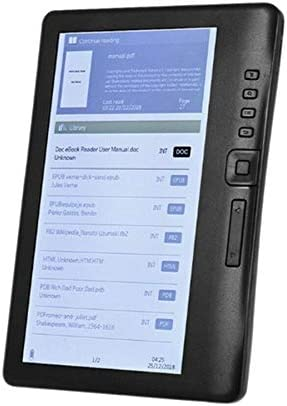 Fauge Lector de Libros Electr/óNicos de 7 Pulgadas E-Ink Pantalla LCD en Color Inteligente con Resoluci/óN HD Video Digital E-Book Video Reproductor de M/úSica MP3 Compatible con Tarjeta TF