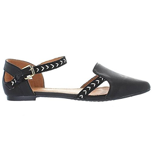Extra Fine Sugar oz - Black/Tribal Print Mary Jane Flat - Size: 9 by Extra Fine Sugar (Image #2)