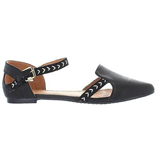 Extra Flat Fine Sugar oz - Black/Tribal Print Mary Jane Flat Extra B01MT02IHU Shoes 9ad440
