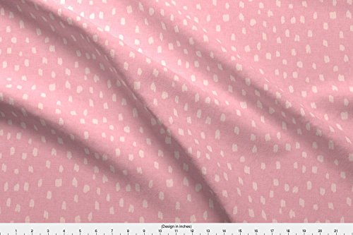 Dots Fabric - Hollis Polk-A-Dots Pink by fable_design - Dots Fabric with Spoonflower - Printed on Minky Fabric by the Yard