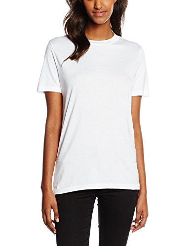 SELECTED FEMME Sfmy Perfect Ss Tee - Box Cut Noos - Camiseta Mujer Blanco (Bright White)