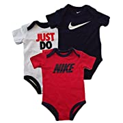 Nike 3 Pack Bodysuit Set - Boys' Infant Size 3-6Months (Assorted, 3-6Months)