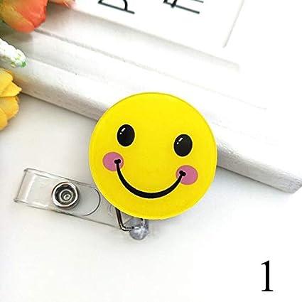 1Pc Mini Cute Cartoon Retractable Badge Reel Pull Key ID Name Card Badge Holder