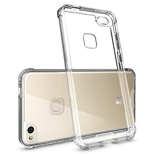 RKINC Funda para Huawei P10 Lite, Carcasa Bumper, (Soft Corners + Hard Back) Hybrid Case, Shock Absorcion, Anti Aranazos, P10...