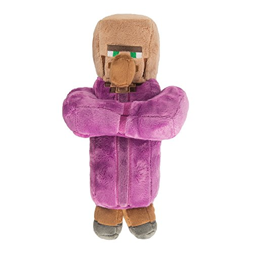 JINX Minecraft Villager Priest Plush Stuffed Toy (Multi-Color, 12 Tall)