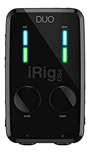 IK Multimedia iRig PRO DUO 2 channel professional audio interface for iPhone, iPad and Mac/PC