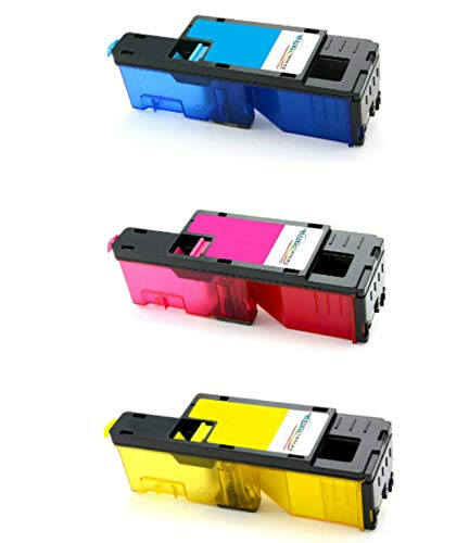 Media Sciences Xerox Phaser 6020, 6022, WorkCentre 6025, 6027 (106R02756, 106R02757, 106R02758) 3-Color CMY Compatible Toner Cartridge Set