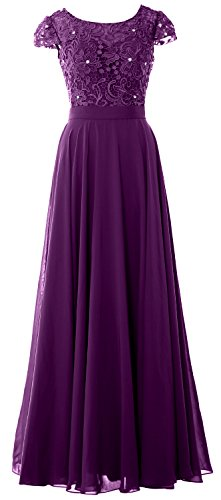 Women Evening MACloth Lace Cap Dress Bride Sleeve Vintage Eggplant Formal of Gown Mother dzzrp