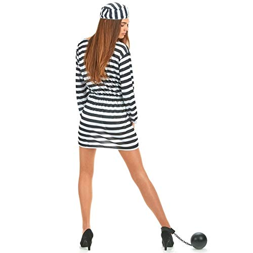 Amazon.com: Costume of prisoner disguise prison One size ...