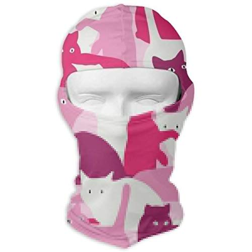 - JJKYL Seamless Pattern with Cats in Military Style Vector Image Full Face Mask Hood Sunscreen Mask Cycling Hunting Hiking Skiing Mask Dual Layer Cold for Men and Women