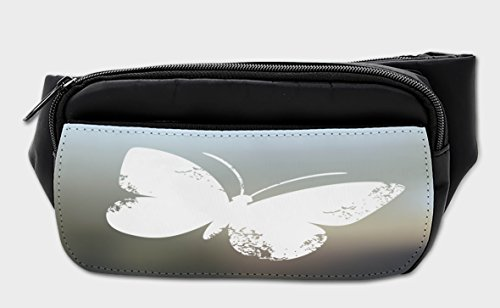 Lunarable Butterfly Bumbag, Nature Wild Animals Bug, Fanny Pack Hip Waist Bag by Lunarable