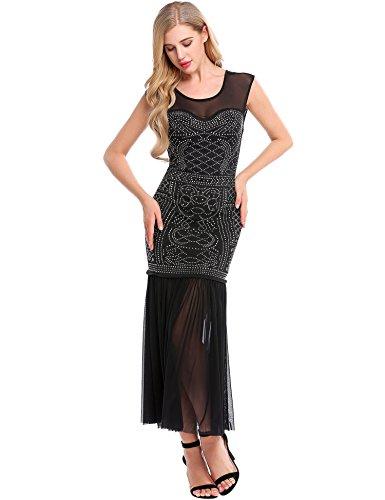Sheer Embellished Party Dress - 7