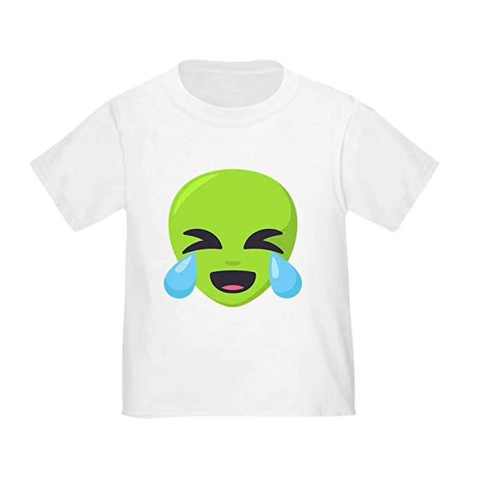 a8ac0d7c493 Image Unavailable. Image not available for. Color  CafePress Alien Laughing  Emoji Toddler T Shirt Cute ...