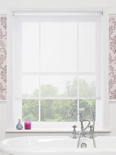 Magic Screen Blinds Sheer Voile Roller Blinds Amazon Co Uk Kitchen Home