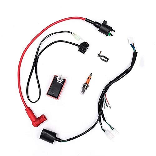 JINXL Kit de arnés de cableado de 50-150cc Universal Motorcycle ...