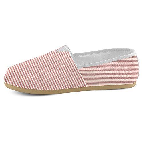Rentprint Dames Loafers Classic Casual Canvas Overslaan Schoenen Sneakers Mode Rood Rood En Wit